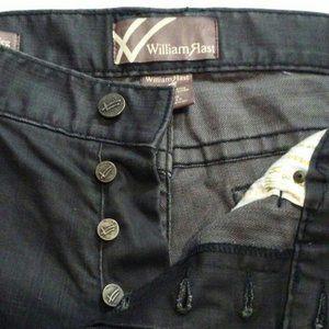 William Rast mens jeans 38 Black Button fly Ben